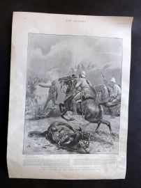 The Graphic 1897 Print. Fighting on North-West Frontier. Swat Valley Pakistan